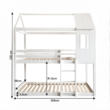 Montessori emeleteságy, fehér, 90x200, ATRISA 4