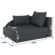 Kinyitható kanapé, szürke-fekete szövet, jobbos, LAUREL 2