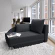 Kinyitható kanapé, szürke-fekete szövet, jobbos, LAUREL 3