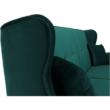 Kinyitható kanapé, zöld szövet, COLUMBUS 1
