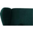 Kinyitható kanapé, zöld szövet, COLUMBUS 2