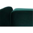 Kinyitható kanapé, zöld szövet, COLUMBUS 3