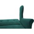 Kinyitható kanapé, zöld szövet, COLUMBUS 5