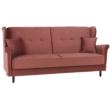 Kinyitható kanapé, öreg rózsaszín szövet, COLUMBUS 1