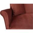 Kinyitható kanapé, öreg rózsaszín szövet, COLUMBUS 2