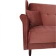 Kinyitható kanapé, öreg rózsaszín szövet, COLUMBUS 3