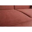 Kinyitható kanapé, öreg rózsaszín szövet, COLUMBUS 4