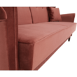 Kinyitható kanapé, öreg rózsaszín szövet, COLUMBUS 5