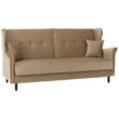 Kinyitható kanapé, arany-bézs szövet, COLUMBUS 1