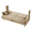Kinyitható kanapé, arany-bézs szövet, COLUMBUS 2