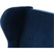 Kinyitható kanapé, kék szövet, COLUMBUS 1