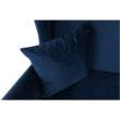 Kinyitható kanapé, kék szövet, COLUMBUS 2