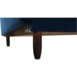 Kinyitható kanapé, kék szövet, COLUMBUS 3