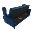 Kinyitható kanapé, kék szövet, COLUMBUS 5