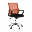 Irodai szék, hálószövet narancs/szövet fekete, APOLO 4