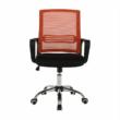 Irodai szék, hálószövet narancs/szövet fekete, APOLO 5