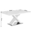 Étkezőasztal, fehér magasfényű HG, FARNEL 1