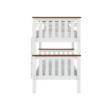 Emeletes, kinyitható ágy ágy, fehér/barna, ROWAN NEW 1