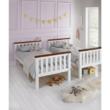 Emeletes, kinyitható ágy ágy, fehér/barna, ROWAN NEW 3