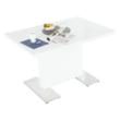 Szétnyitható étkezőasztal, fehér magasfényű HG, IRAKOL 2