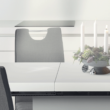 Szétnyitható étkezőasztal, fehér magasfényű HG, IRAKOL 4