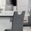 Szétnyitható étkezőasztal, fehér magasfényű HG, IRAKOL 5