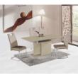 nyitható étkezőasztal, capuccino extra magasfényű, VIRAT 2
