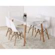 Étkezőasztal, fehér+ bükk, DIDIER 4 NEW 2