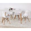 Étkezőasztal, fehér+ bükk, DIDIER 4 NEW 3