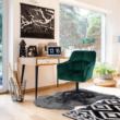 Irodai szék, smaragd selymes szövet/fém, HAGRID 1