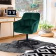 Irodai szék, smaragd selymes szövet/fém, HAGRID 2