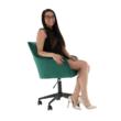 Irodai szék, smaragd selymes szövet/fém, HAGRID 4