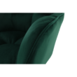 Irodai szék, smaragd selymes szövet/fém, HAGRID 5