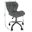 Irodai fotel, világosszürke/króm, ARGUS 1
