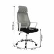 Irodai szék, szürke/fekete/fehér, TAXIS 1