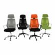 Irodai szék, szürke/fekete/fehér, TAXIS 2