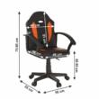 Irodai szék, textilbőr fekete/narancssárga, MADAN NEW 1