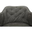 Irodai fotel, szürkésbézs/króm, ELINOR 5