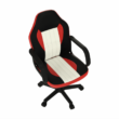 Irodai fotel, fekete/piros/bézs, MALIK NEW 2
