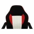Irodai fotel, fekete/piros/bézs, MALIK NEW 5