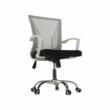 Irodai szék, szürke/fekete/fehér/króm, IZOLDA 2