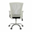 Irodai szék, szürke/fekete/fehér/króm, IZOLDA 4