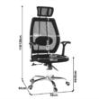 Irodai szék, fekete/króm, IZAURA 1