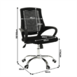 Irodai szék, fekete/króm, IMELA TYP 2 2
