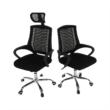 Irodai szék, fekete/króm, IMELA TYP 2 3