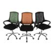 Irodai szék, fekete/króm, IMELA TYP 2 4