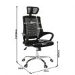 Irodai szék, fekete, IMELA TYP 1 1