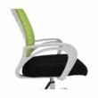 Irodai szék, zöld/fekete/fehér/króm, OZELA 2