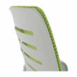 Irodai szék, zöld/fekete/fehér/króm, OZELA 3
