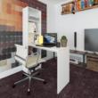 Többfunkciós íróasztal, fehér, JASMIN 4